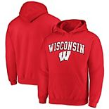 Men's Fanatics Branded Red Wisconsin Badgers Campus Pullover Hoodie