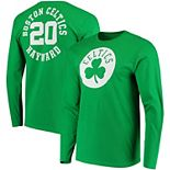 Men's Fanatics Branded Gordon Hayward Kelly Green Boston Celtics Round About Name & Number Long Sleeve T-Shirt