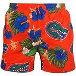 Men's Orange Florida Gators Floral Swim Trunks