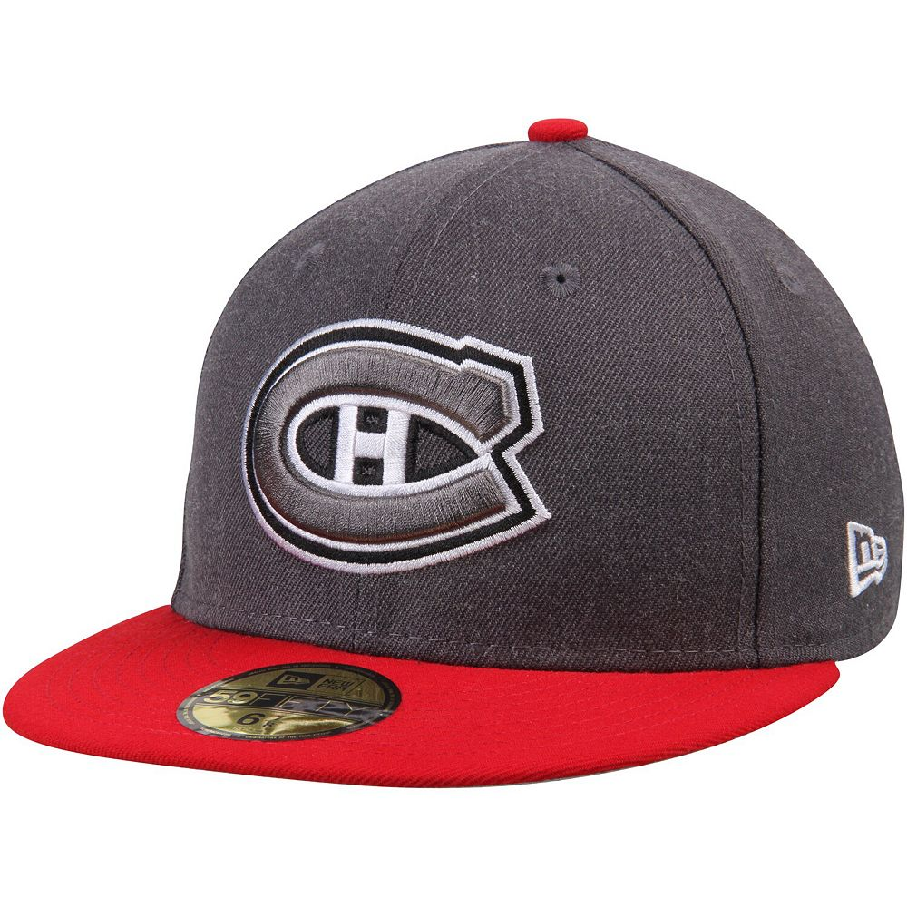 Men's New Era Graphite/Red Montreal Canadiens Shader Melt 2 59FIFTY Structured Hat