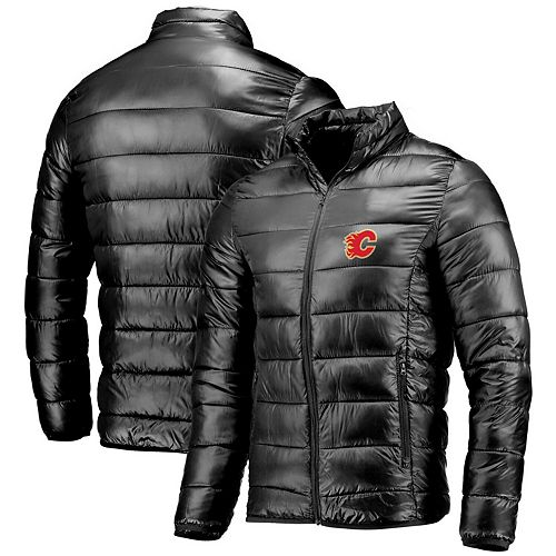 Men's Fanatics Branded Black Calgary Flames Polyester Puffer Jacket