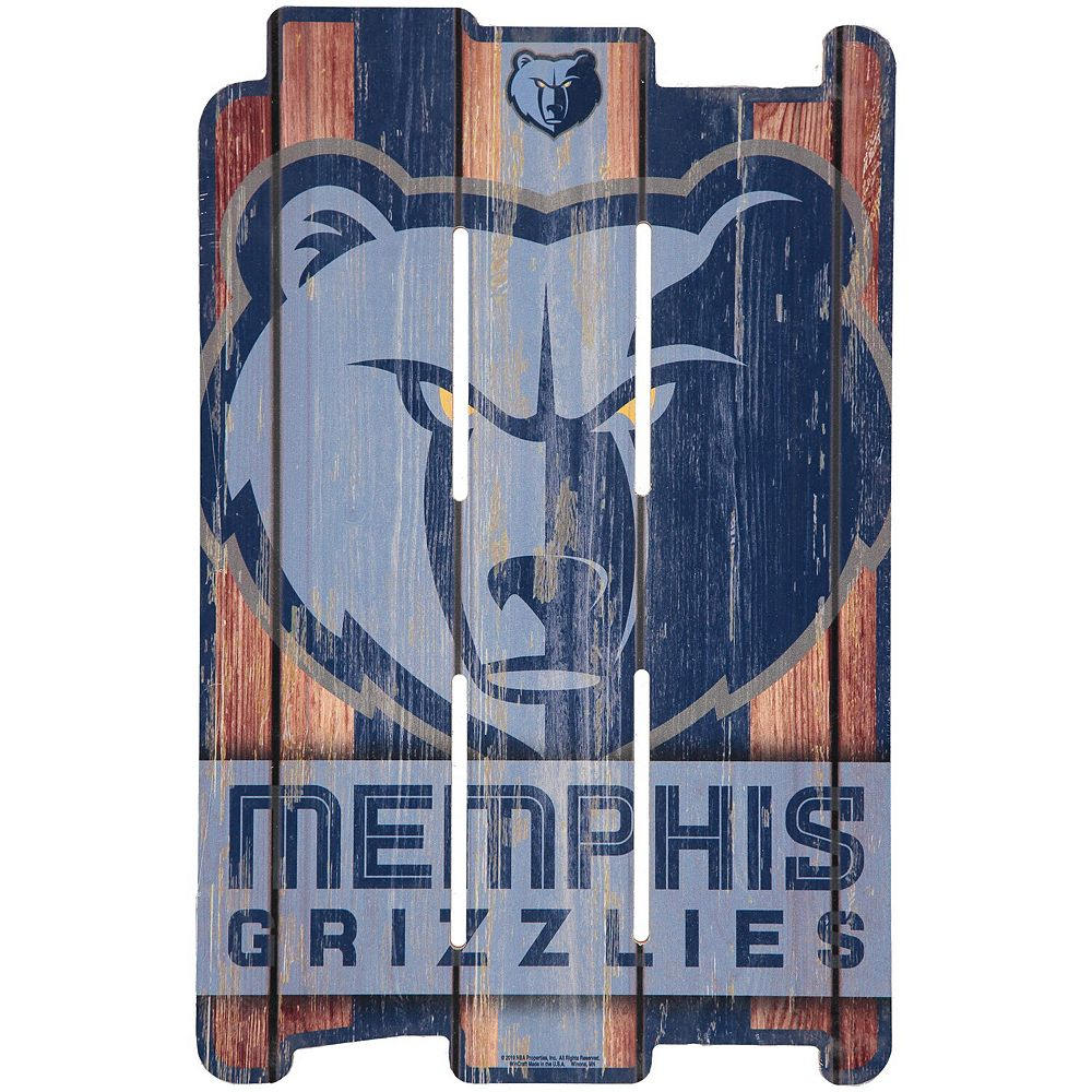 """WinCraft Memphis Grizzlies 11"""" x 17"""" Fence Wood Sign"""