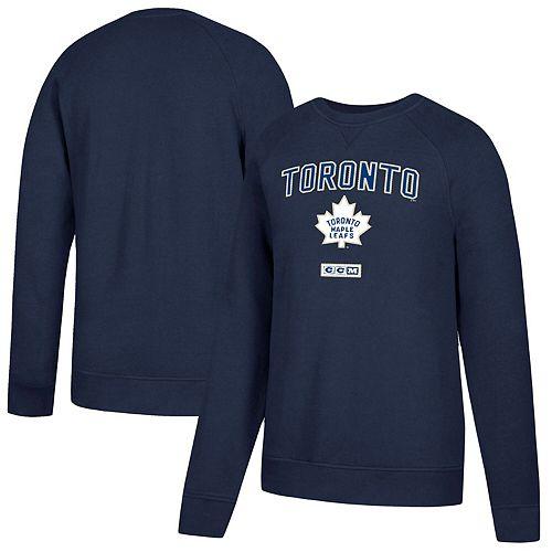 Men's CCM Navy Toronto Maple Leafs Fleece Pullover Sweatshirt