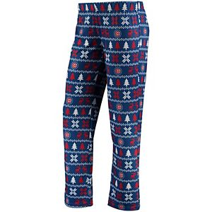 Women's Royal Chicago Cubs Holiday Print Pant