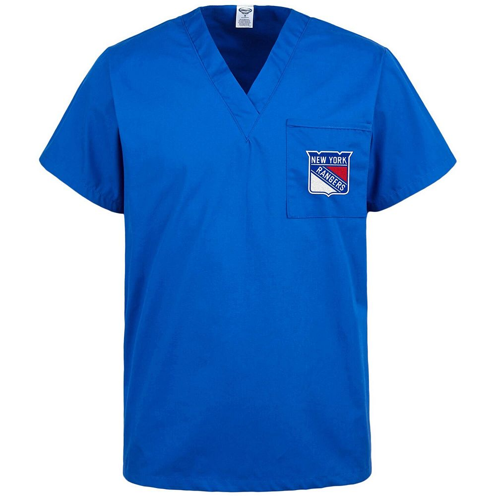 Concepts Sport Blue New York Rangers Scrub Top