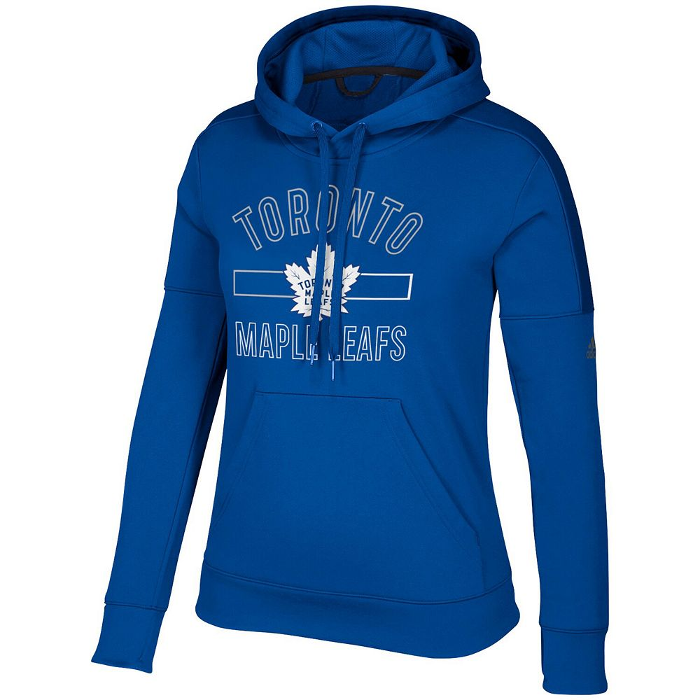 Women's adidas Blue Toronto Maple Leafs Open Box Stack Hoodie