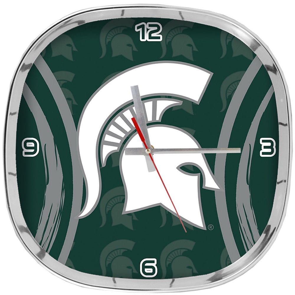 Michigan State Spartans Logo Shadow Clock