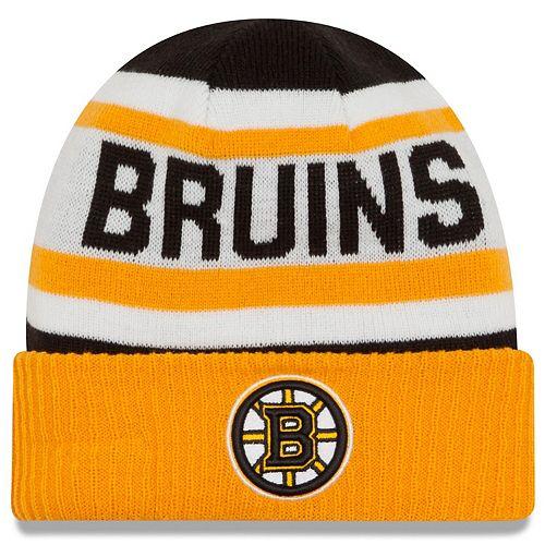 Men's New Era Black Boston Bruins Biggest Fan Redux Cuffed Knit Hat -