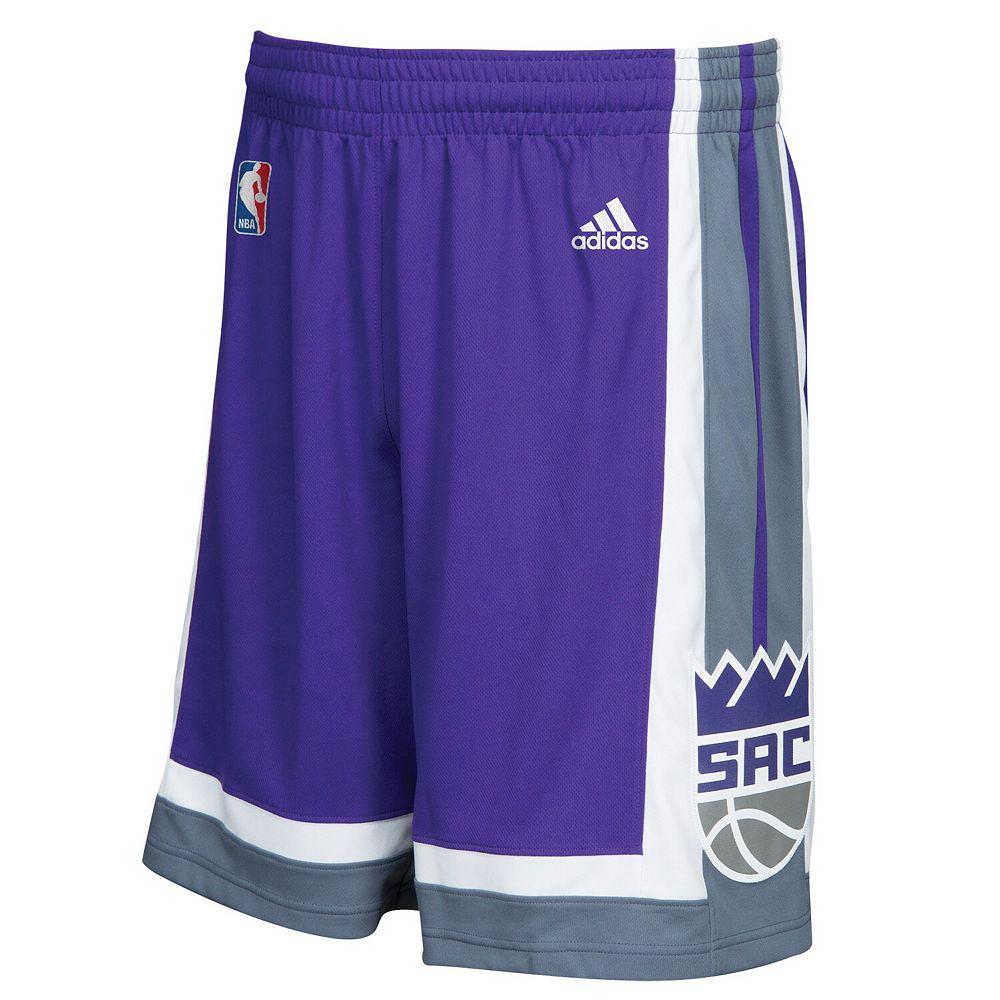 Men's adidas Purple/Gray Sacramento Kings Swingman Shorts