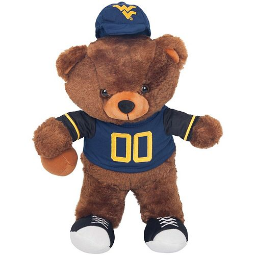 West Virginia Mountaineers Locker Room Buddy Dress Me Plush Bear Kit