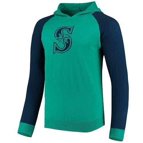 Men's Aqua Seattle Mariners Team Logo Pullover Hoodie