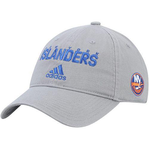 Men's adidas Gray New York Islanders Team Callout Adjustable Hat