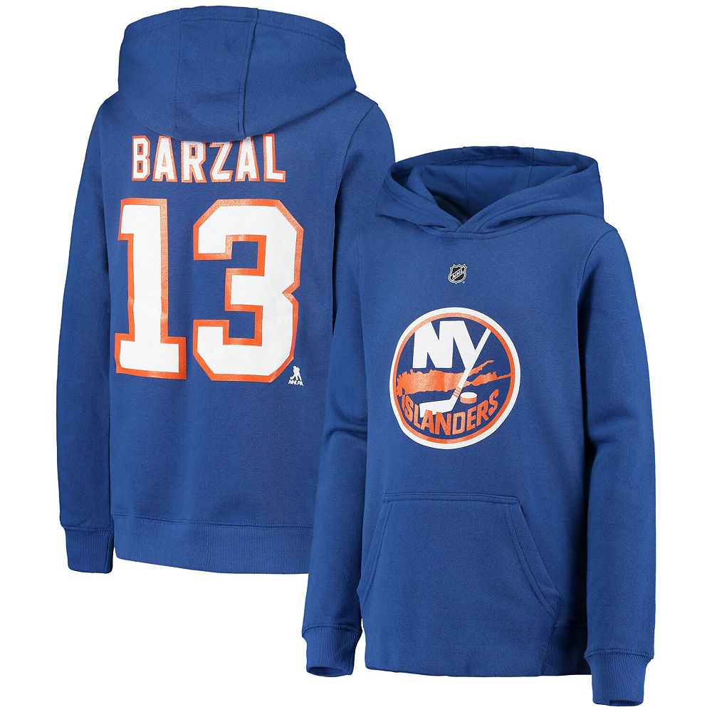 Youth Mathew Barzal Royal New York Islanders Player Name & Number Pullover Hoodie