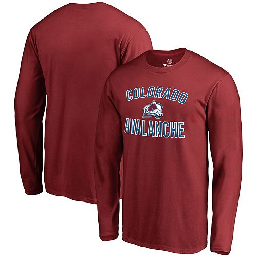 Men's Fanatics Branded Burgundy Colorado Avalanche Victory Arch Long Sleeve T-Shirt