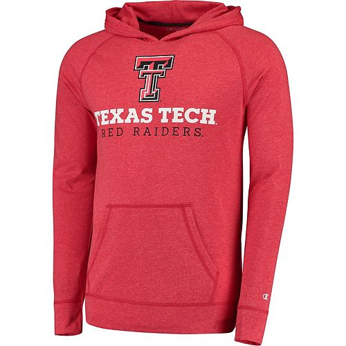 Men's Champion Heather Red Texas Tech Red Raiders Varsity Play Hoodie T-Shirt