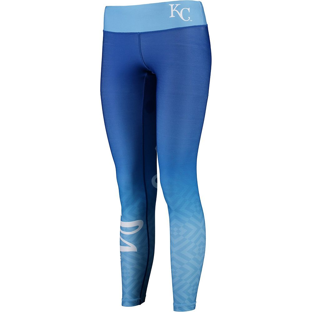 Women's Light Blue Kansas City Royals Gradient Print Leggings