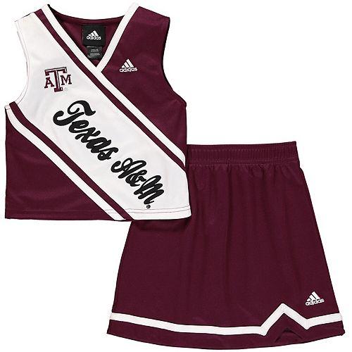 Texas A&M Aggies adidas Girls Youth 2-Piece Cheer Dress - Maroon