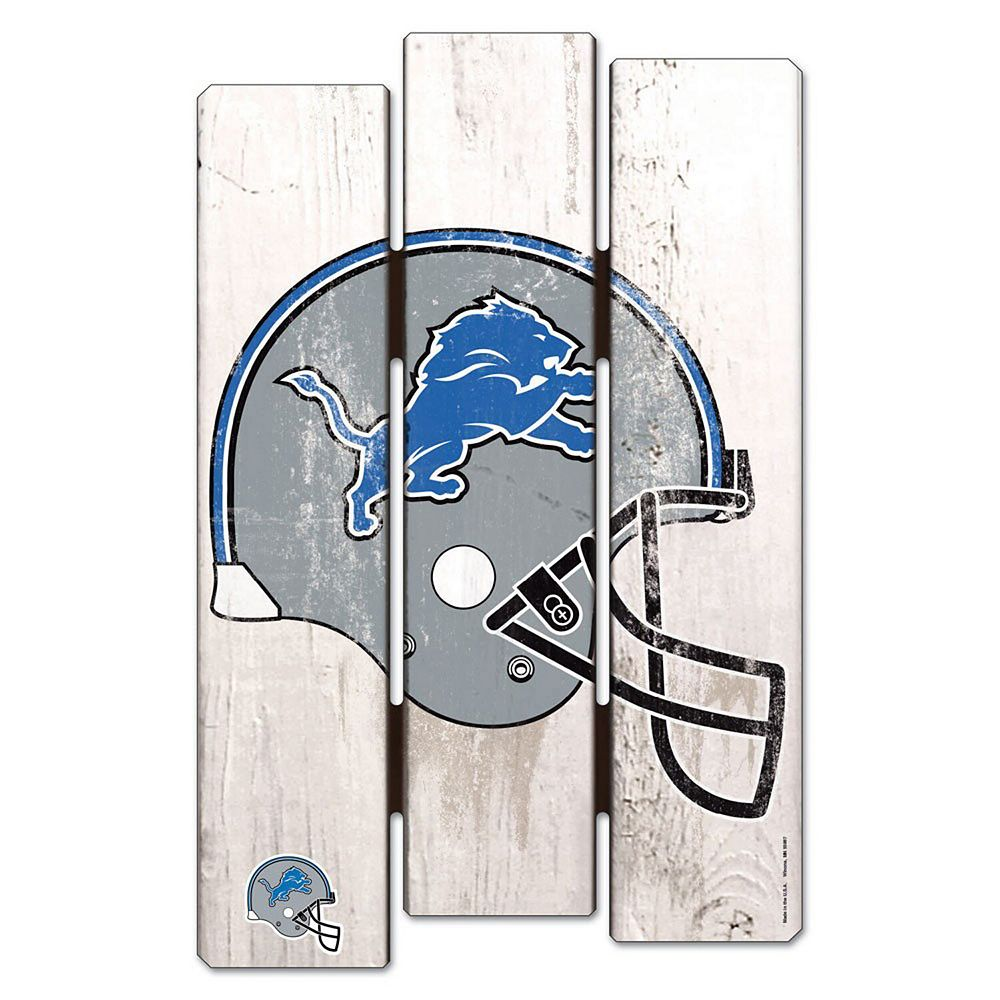 """WinCraft Detroit Lions 11"""" x 17"""" Fence Wood Sign"""