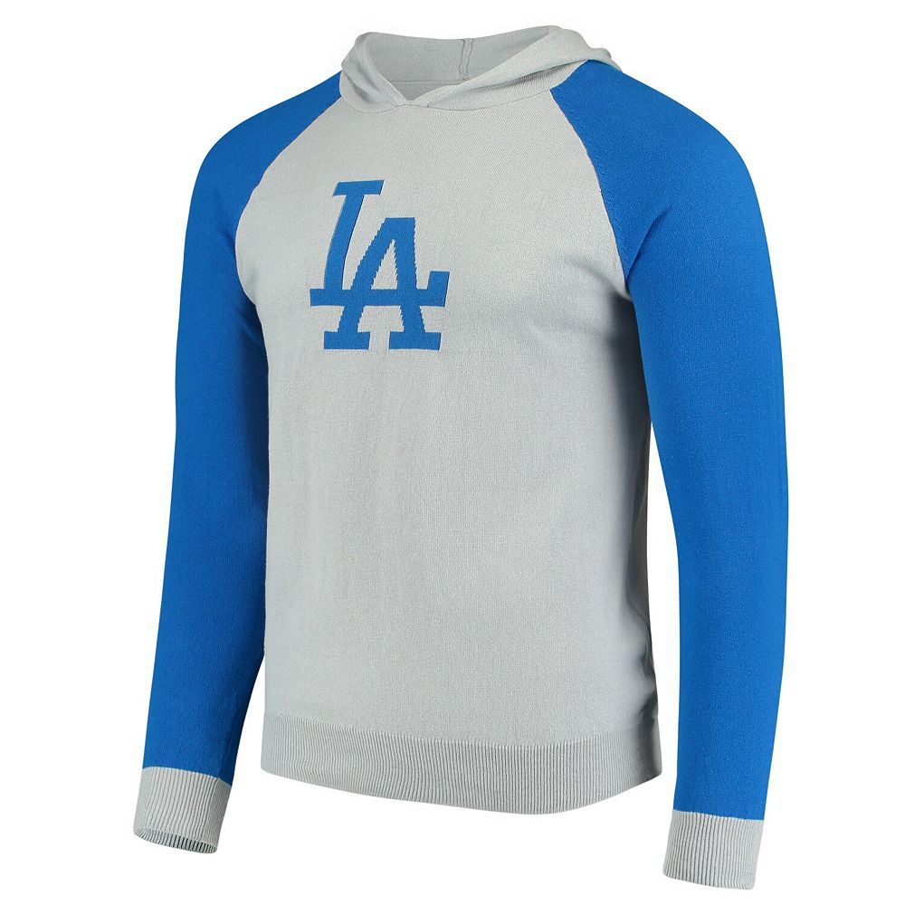 Men's Gray Los Angeles Dodgers Team Logo Pullover Hoodie