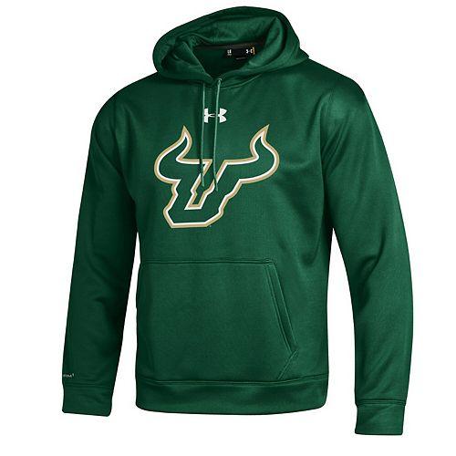 Men's Under Armour Green South Florida Bulls Big Logo Storm Performance Pullover Hoodie