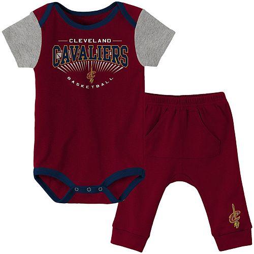 Infant Wine Cleveland Cavaliers Point Guard Pant Set