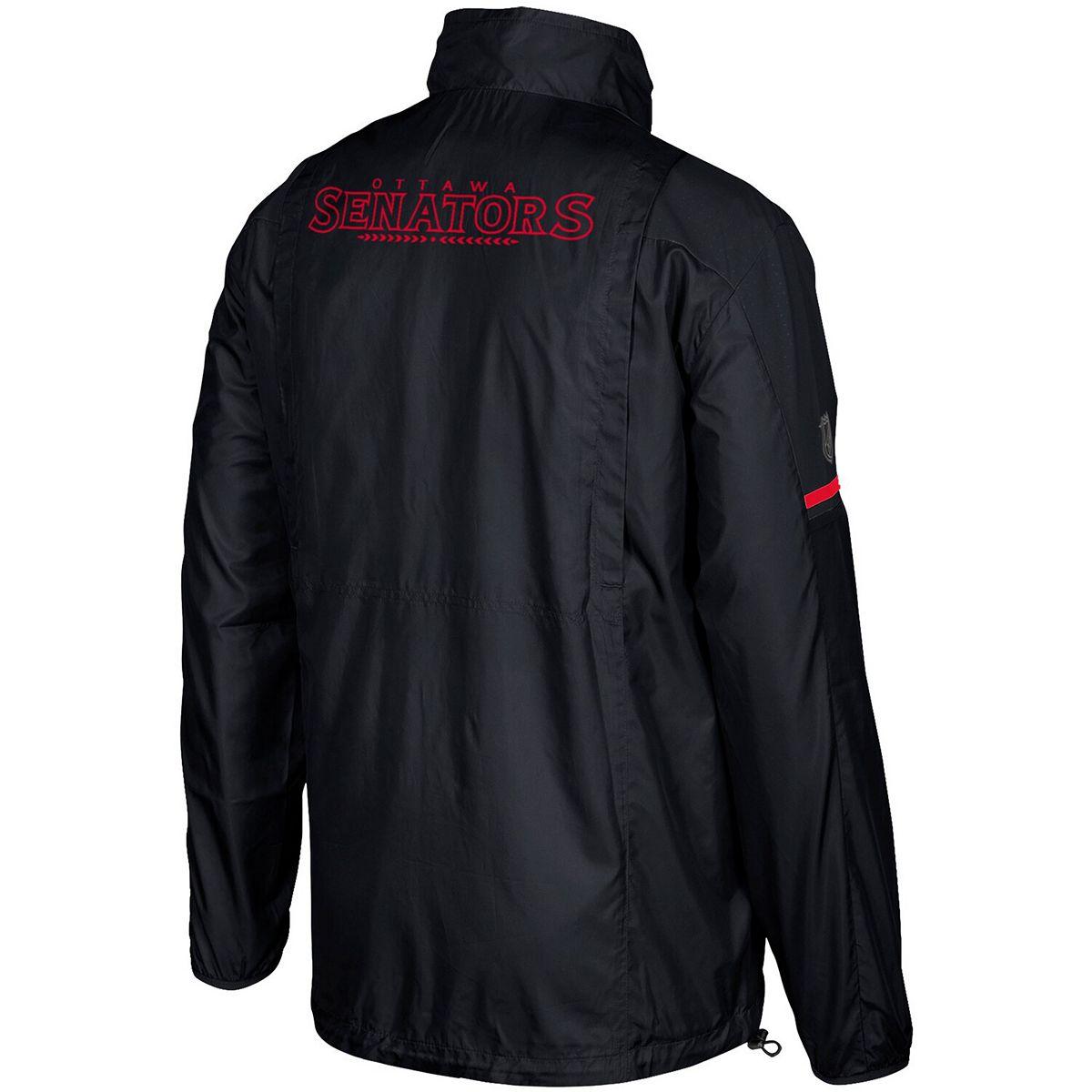 Men's adidas Black Ottawa Senators Authentic Rink Full-Zip Jacket dE7K8