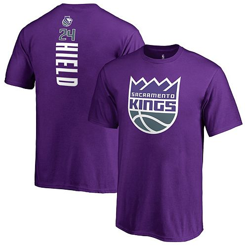 Youth Fanatics Branded Buddy Hield Purple Sacramento Kings Backer Name & Number T-Shirt