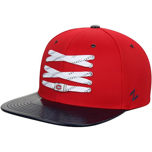 Men's Zephyr Red Montreal Canadiens Patent Lacer Snapback Hat