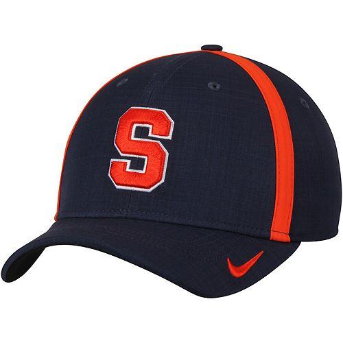 Men's Nike Navy Syracuse Orange 2017 AeroBill Sideline Swoosh Coaches Performance Flex Hat