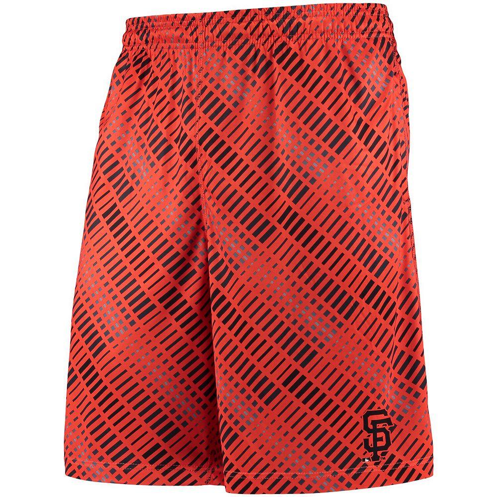 Men's Orange/Black San Francisco Giants Repeat Diagonal Bar Training Shorts
