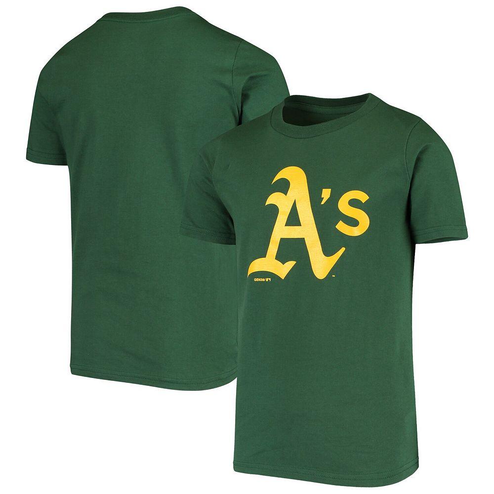 Youth Green Oakland Athletics Primary Logo Team T-Shirt