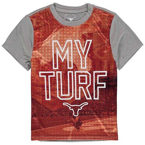 Youth Texas Orange Texas Longhorns Malcom Poly T-Shirt