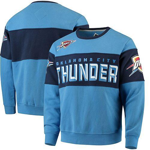 Men's G-III Sports by Carl Banks Blue/Navy Oklahoma City Thunder Wild Cat Supreme II Long Sleeve T-Shirt
