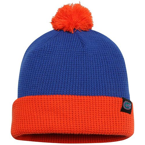 Men's Nike Royal Florida Gators Waffle Cuffed Pom Knit Hat