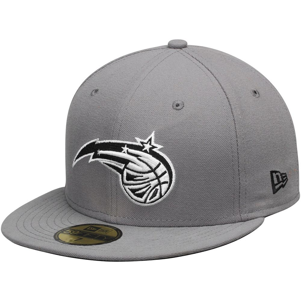 Mens Orlando Magic New Era Gray/Black 59FIFTY Fitted Hat