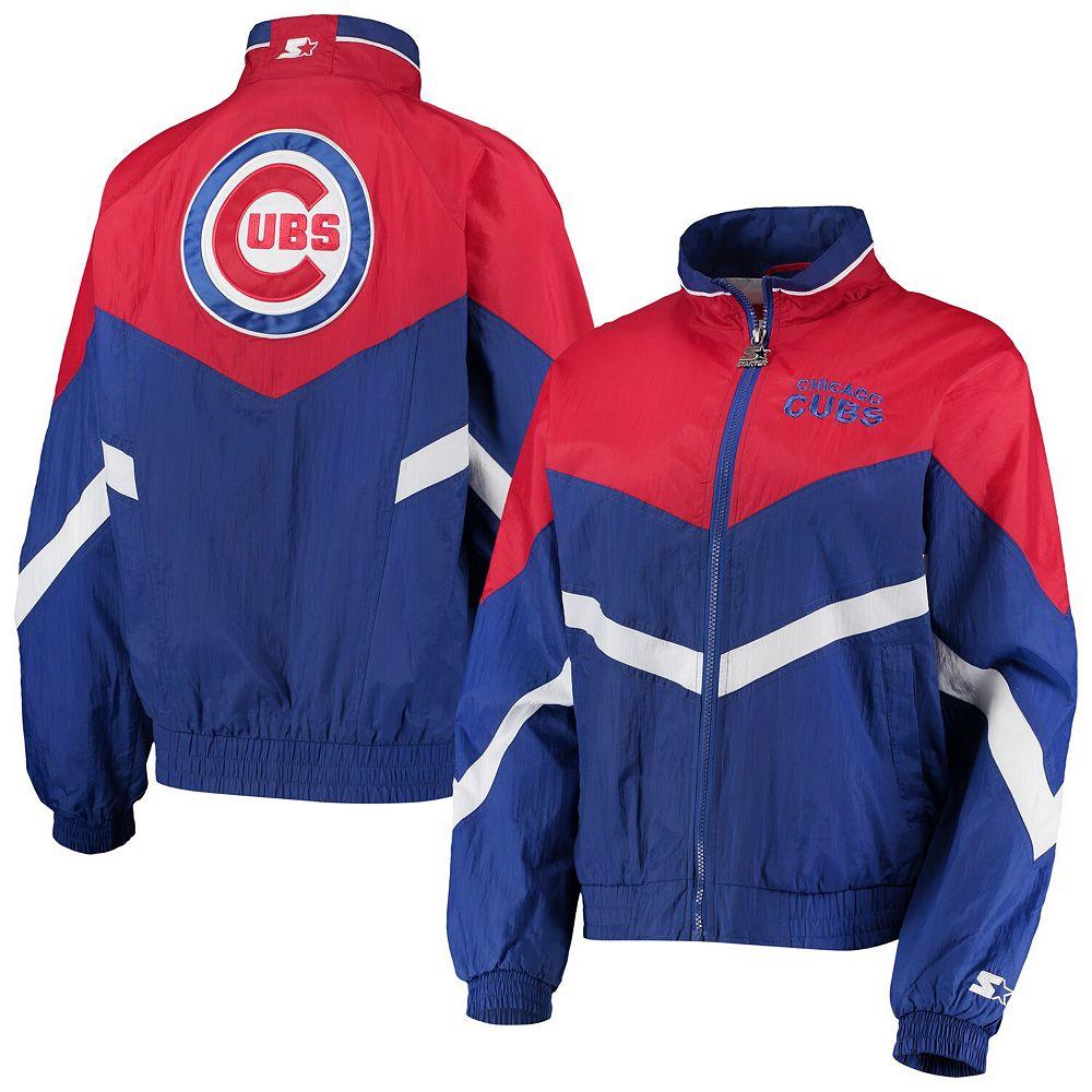 Women's Starter Royal/Red Chicago Cubs Winning Streak Full-Zip Jacket