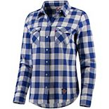 Women's Levi's® Blue/White New York Knicks Buffalo Western Long Sleeve Button-Up Shirt