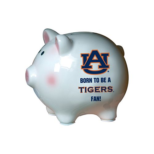 Auburn University Tigers Born To Be Ceramic Piggy Bank