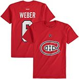 Youth Reebok Shea Weber Red Montreal Canadiens Name & Number T-Shirt