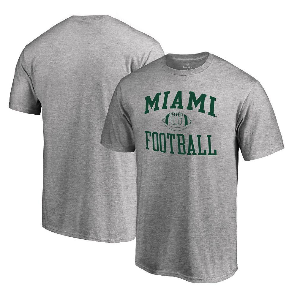Men's Fanatics Branded Gray Miami Hurricanes First Sprint T-Shirt