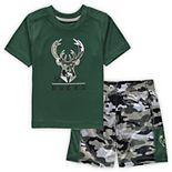 Toddler Hunter Green Milwaukee Bucks MVP T-Shirt & Shorts Set