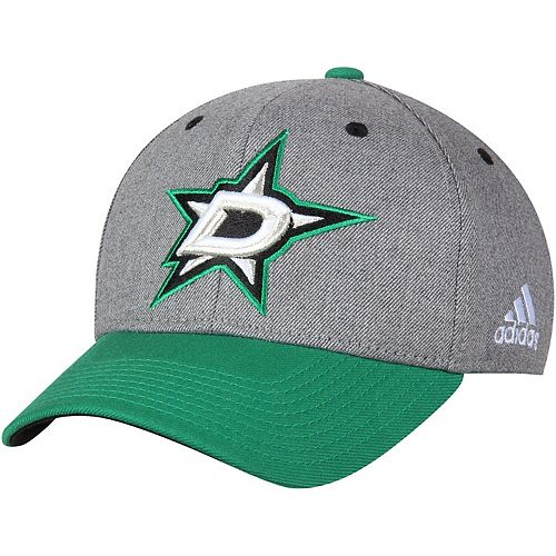 Men's adidas Gray Dallas Stars Two-Tone Structured Adjustable Hat