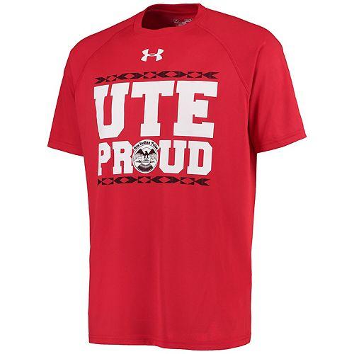 Men's Under Armour Red Utah Utes Ute Pride Special Game Performance T-Shirt
