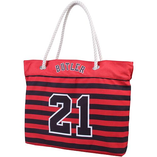 Women's Jimmy Butler Red Chicago Bulls Player Nautical Stripe Tote Bag
