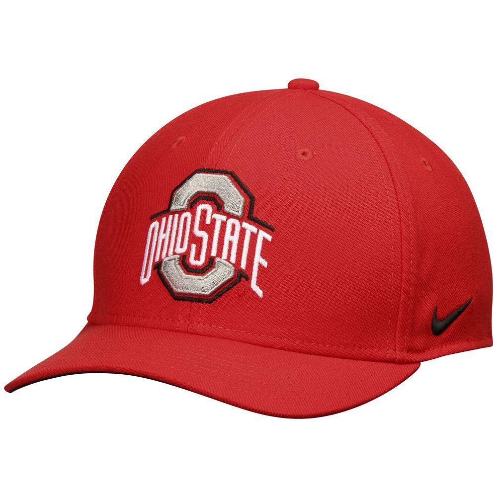 Men's Nike Scarlet Ohio State Buckeyes Swoosh Performance Flex Hat