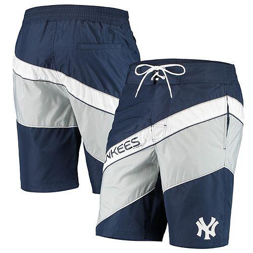 Men's Starter Navy/Gray New York Yankees Rookie Swim Trunk