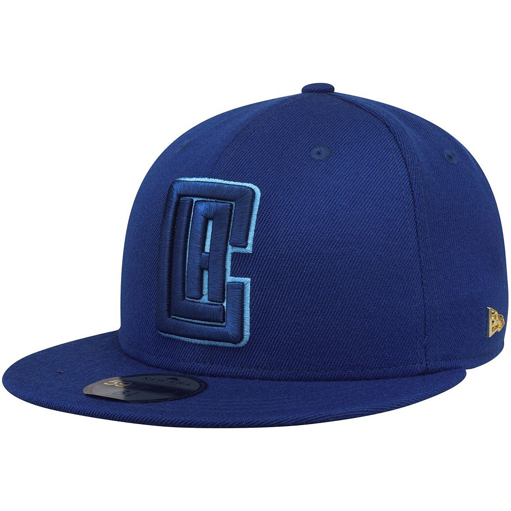 Men's New Era Royal LA Clippers Essential Black Label Series 59FIFTY Fitted Hat