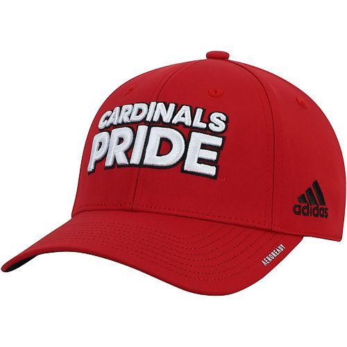 Men's adidas Red Louisville Cardinals Team Mantra AEROREADY Flex Hat