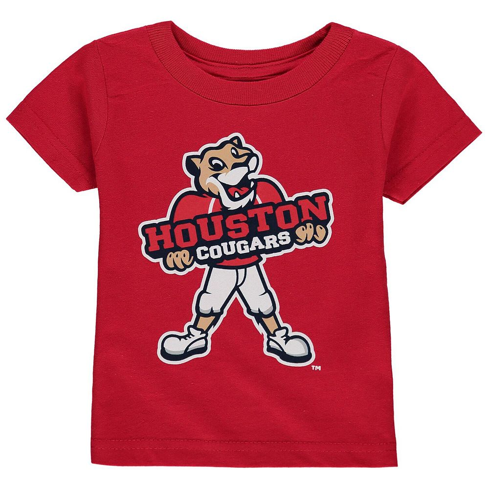 Men's Red Houston Cougars Big Logo T-Shirt