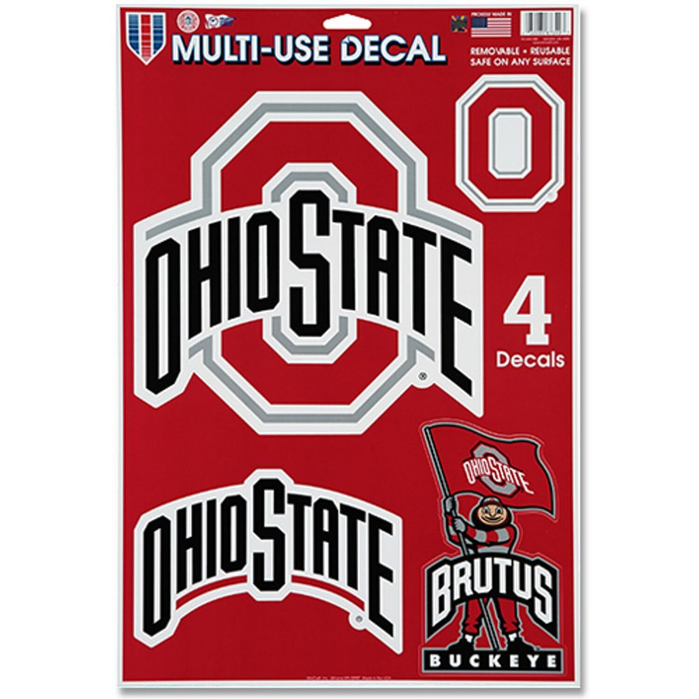 "WinCraft Ohio State Buckeyes 11"" x 17"" Window Cling Decal Sheet"